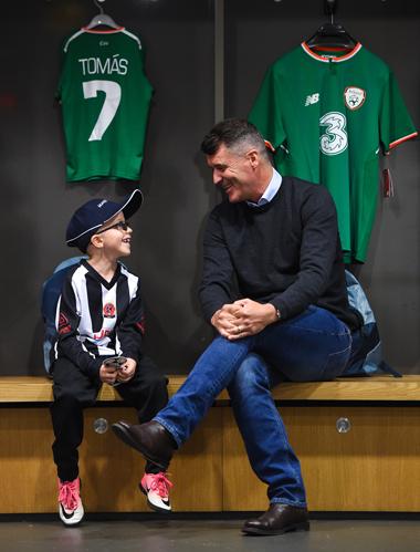 Tomás meeting his hero Roy Keane