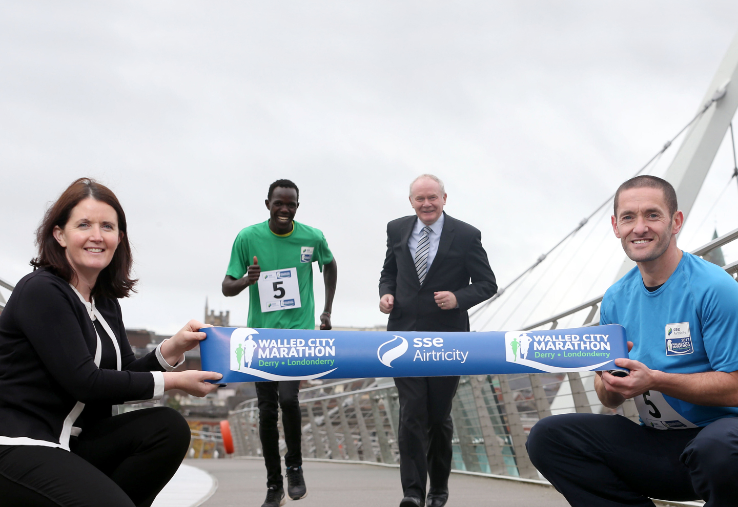 On your marks: Deputy First Minister launches fifth SSE Airtricity Walled City Marathon